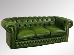unique green leather sofas with seafoam green leather sofa image