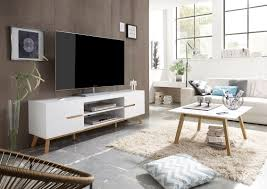 modern tv stand perfect match of white and oak great furniture