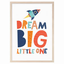 mini learners nursery decor wall art prints for kids room dream big little one nursery print