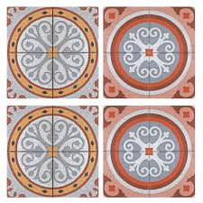 paving pattern tiles stickers set of 4 tiles tile decals art