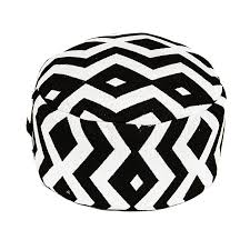black and white patterned ottoman u2013 peter corvallis productions