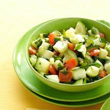 Easy Salad Recipe by Minted Cucumber Salad Recipe Taste Of Home