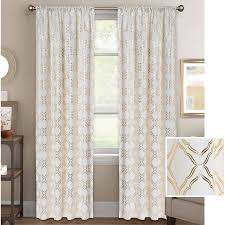 Better Homes Curtains Better Homes And Gardens Metallic Trellis Gold Or Silver Foil