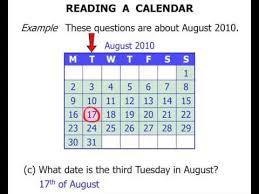 reading a calendar youtube