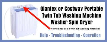 costway giantex portable twin tub washing machine help and