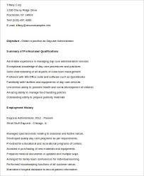 Sample Daycare Resume sample daycare resume 8 examples in word pdf