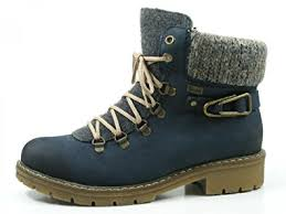 womens boots navy rieker y9131 14 pazifik navy womens boots amazon co uk shoes
