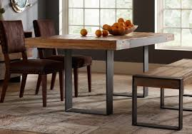 urban industrial dining room contemporary with wood dining table