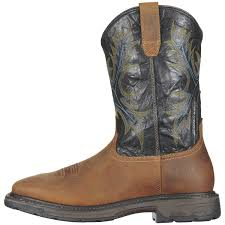 ariat workhog h2o steel toe work shoes aged bark for men www