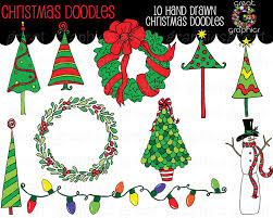 christmas doodle clip art christmas tree clip art christmas