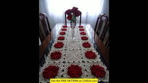 Crochet Table Cloth Crochet Tablecloth Square Youtube