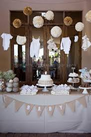 sheep baby shower vintage themed neutral baby shower