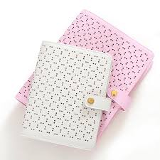 time design planner a5 a6 fashion hollow buckle design pu leather daily memos loose