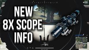 pubg 8x scope range new 8x scope in pubg in depth info exact variable zoom youtube