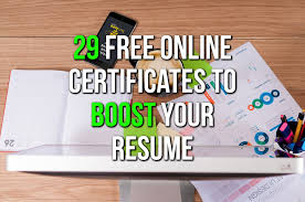 free online courses with certificates cv building life hacks