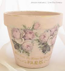 Challenge Plant Pot Live The Shabby Chic Altered Terracotta