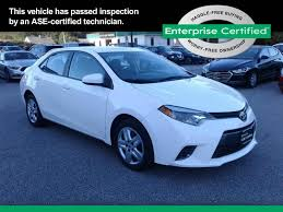 used white toyota corolla for sale edmunds