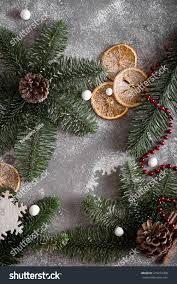 christmas tale frame treesthemes christmas decorations stock photo