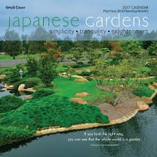 japanese gardens 2017 mini wall calendar 9781610465151