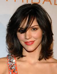 haircuts for round faces and curly hair top 20 medium length hairstyles with bangs for round faces
