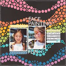 halloween face paint kids black background around the world australia scrapbook layout inspired by