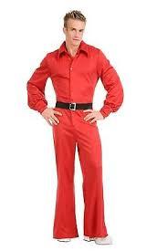 Studio 54 Halloween Costumes Red Studio 54 Jumpsuit Disco 70s Bell Bottoms Mens Halloween
