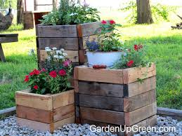 Discount Outdoor Planters by Diy Reclaimed Wood Planter Boxes U2013 Garden Up Green