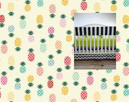 pineapple crib skirt etsy