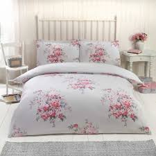 Flannelette Single Duvet Cover Kate Floral Thermal Flannelette Duvet Cover Set Pink