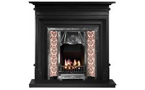 any highlighted tiled insert and palmerston cast iron fireplace