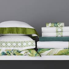 Pottery Barn Tropical Bedding Tropical Leaf Bedding Green Williams Sonoma