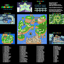 Labeled World Map by Super Mario World Map Selection Labeled Maps