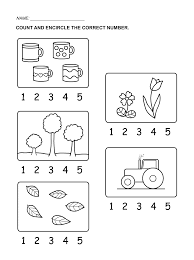 numbers counting 1 5 for kids activity shelter kids worksheets