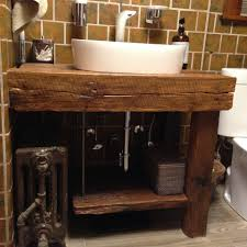 bathrooms design trendy open shelf vanity rustic call for