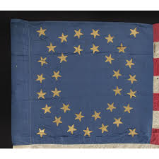 Cavalry Flag Jeff Bridgman Antique Flags And Painted Furniture 35 Star Silk