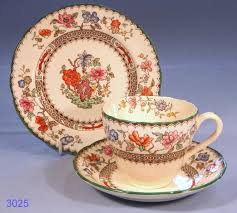 copeland spode chinese rose vintage bone china tea cup saucer and