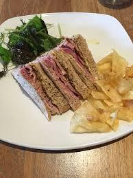 Roots Vegetable Crisps - honey roast ham sandwich root vegetable crisps picture of the
