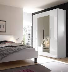 Design Spiegel Schlafzimmer Kleiderschrank Schlafzimmerschrank 4 Türig Mit Spiegel Weiß