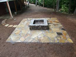 Stone Patio With Fire Pit Blue Stone Patio With Fire Pit Design And Ideas