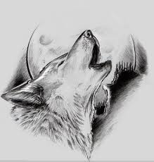 wolf howling on moon design tattooimages biz