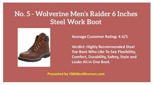 5 most comfortable steel toe boots reviews for 2017 youtube