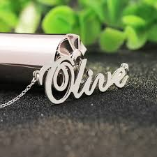 sted name necklace popular silver necklace 925 name buy cheap silver necklace 925