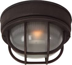 Bulkhead Outdoor Lights Craftmade Z394 07 Bulkhead Rust Exterior Small Ceiling Light