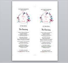 wedding ceremony program templates 25 wedding program templates free psd ai eps format