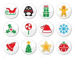 christmas vector round icons set u2014 stock vector redkoala 34079667