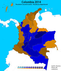 Colombian Map Colombia World Elections
