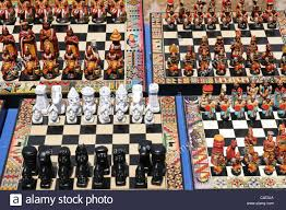 souvenir inca chess sets for sale on the market at pisac near