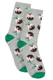 grey u0026 multi christmas pudding socks in gift bauble sizes 4 7 8 11