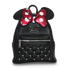 bags of bows loungefly x minnie bow mini faux leather backpack disney brands