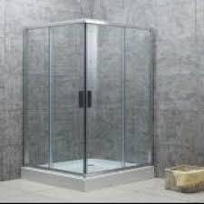 aluminum frame shower enclosure with aluminum door handle made of